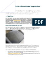 Molding defects often caused by process problems