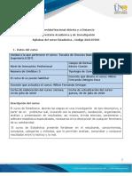 Syllabus del curso Estadística