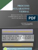 PROCESO RESOLUCIÓN DEL CONTRATO DE COMPRAVENTA