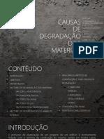 Degradação de Materiais