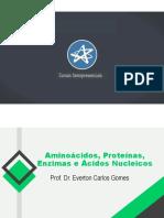Aula 2 - Aminoácidos, Proteínas, Enzimas e Ácidos Nucleicos - Prof. Everton Gomes - Final.pdf