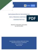 Impugnación de providencias en el proceso contencioso administrativo