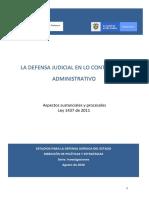La defensa judicial en lo contencioso administrativo. Aspectos sustanciales y procesales
