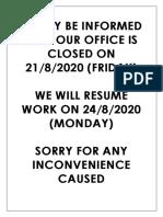 NOTICE CLOSE OFFICE ON 21-8.pdf