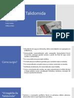História da Talidomida
