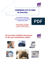 E-Commerce Act of  2000
