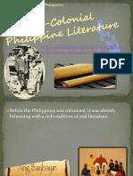 Pre-Colonial Philippine Literature