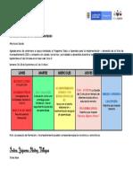 CRONOGRAMA DE ACTIVIDADES - SEMANA II - DEL 28 AL 2 DE OCTUBRE