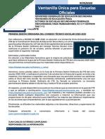 Ventanilla Única para Escuelas Oficiales No.030 01.10.2020