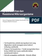13 Uji Sensitivitas dan Resistensi Mikroorganisme