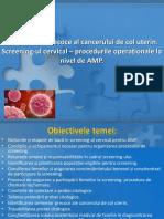 Diagnosticul Precoce Al Cancerului de Col Uterin 2003