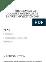 CELEBRATION DE LA JOURNEE MONDIALE DE LA VUE(JMV)EDITION.pptx