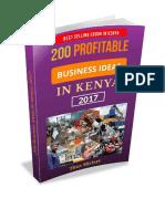 200 Profitable Business Ideas In Kenya