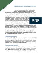 LE MARCHÉ DE LA RÉPUBLIQUE DÉMOCRATIQUE DU CONGO