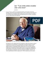Angus Deaton. Entrevista 2012