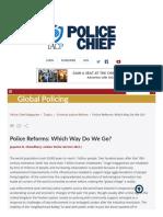 Police Reforms in Modern Society