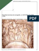 Pequeñas lecciones de iconografía. LA HISTORIA DE ADÁN Y EVA _ Palios