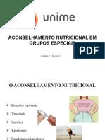 Aula 6 - Aconselhamento nutricional em grupos especiais