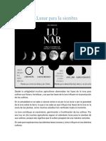 Calendario Lunar para la siembra 11-06-2020
