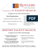 Talent Search Flyer
