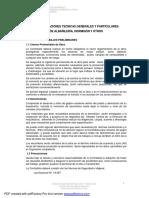 02- especificaciones generales y particulares de albañilería, hormigón y otros