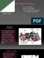Materiales metálicos (ferrosos)