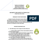 SECURITY AND SAFETY ACTION PLAN 2014-2015