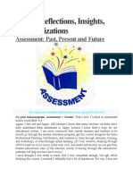 Assessment reflections