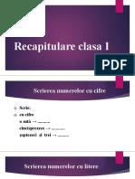 Recapitulare clasa I