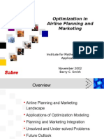 Airline planing and marketing