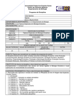 Tópicos Especiais em Biologia Evolutiva - DBI10762