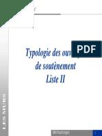 Typologie des ouvrages de soutènement Liste II