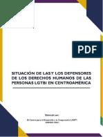 Situación de Las y Los Defensores de Los Derechos Humanos de Las Personas LGBTI en C. a.