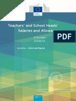 Raportul Eurydice - Salariile Profesorilor