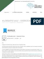 Desafio 3 2017 - Exercício Físico
