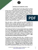 A IMPORTÂNCIA DE CONHECER A DEUS