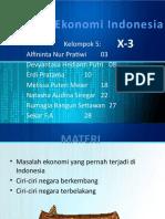 Masalah ekonomi indonesia
