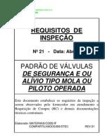 Requisitos de inspeção para valvula de Segurança e-ou Alivio-Rev1