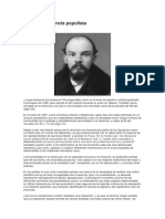 Lenin y La Herencia Populista