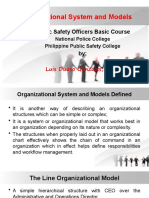Organizational System and Models PSOBC
