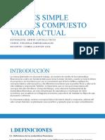 TRABAJO 2 - INTERES SIMPLE Y COMPUESTO