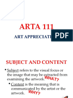 4. ARTA 111 Subject and Content