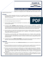EXAMEN DE CLASIFICACIÓN VIRTUAL SETIEMBRE 2020