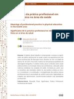 Significados da prática profissional em educação física na área da saúde
