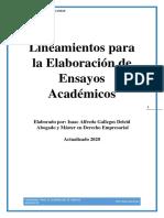 Lineamientos para la elaboración de ensayos Académicos.pdf
