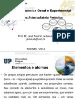 Quimica geral experimental - Aula - Estrutura Atômica e Tabela Periódica 2014.2