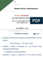 Quimica geral experimental - BALANCEAMENTO REDOX 2014.2
