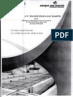 Directiva 034-2018 Emapa San Martin Otorgamiento de factibilidad de servicios