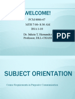 Powerpoint 1 Subject Orientation PCM 47