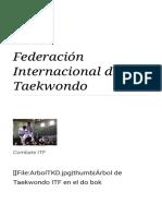 Federación Internacional de Taekwondo - Wikipedia